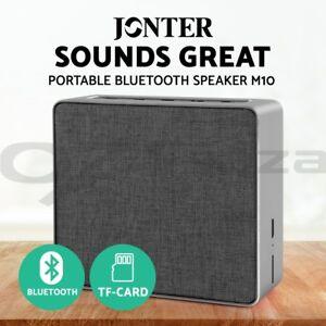 Jonter Mini Desktop Wireless Bluetooth Speaker Grey Portable Audio & Headphones