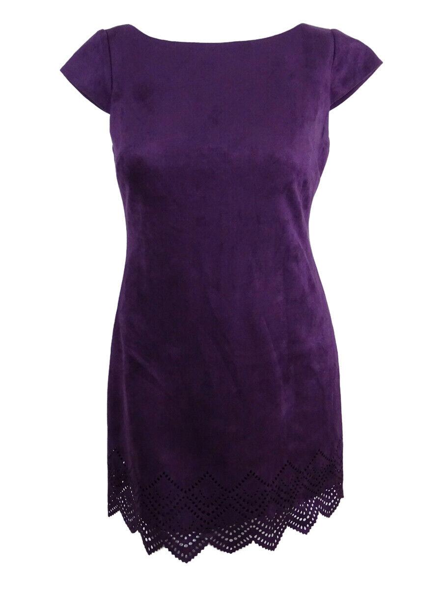 Vince Camuto Women's Faux Suede Cutout Hem Dress