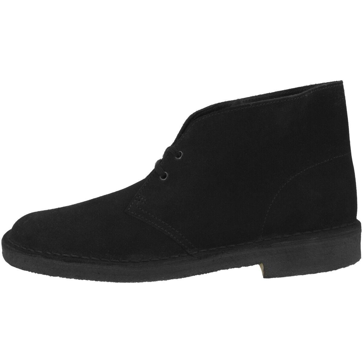 Clarks Desert bota Men zapatos caballero botas schnürzapatos negro Suede 26138227