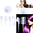 6X Hairdressing Hair Dye Color Bowl Color Mixing Comb Brush Set Tint Tools White