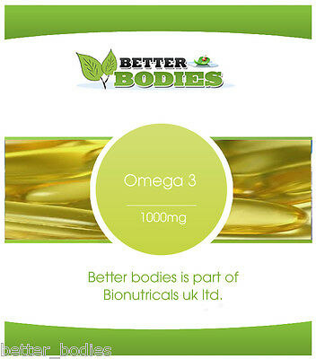 Omega 3 Fish Oil 1000mg 18/12 - 365 Capsules High Quality Better Bodies