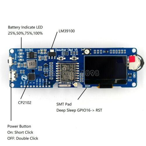 ESP8266 Development Board // 18650 Charging DSTIKE WiFi Deauther OLED V5 panDE