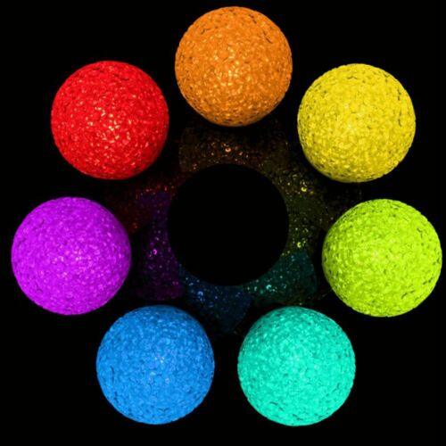 Magic 7Colors Changing Crystal Ball LED Night Light Candle Lamp Party Home Decor