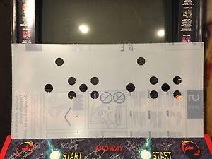 Mortal Kombat 2 Arcade Lexan Polycarbonate Control Panel