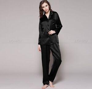 Women-Silk-Satin-Pajamas-Pyjama-Set-PJS-Sleepwear-Loungewear-Plus-Size-Gifts