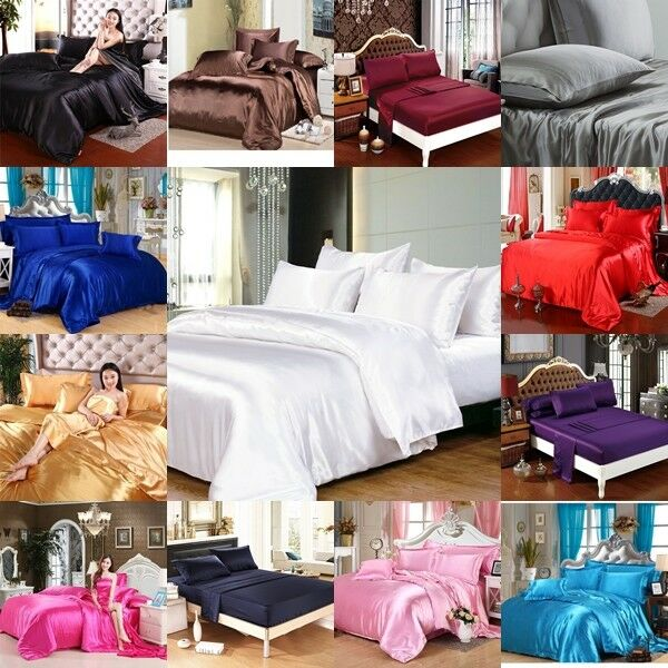 FREE SHIPPING 800 TC 1pc Fitted Flat US Cal-King Size Polyester Silk Bedding