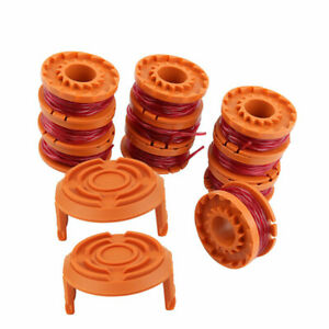 12pc Line Spool Strimmer Head Base Cover Cap+Spool And Line For Worx GT Trimmer