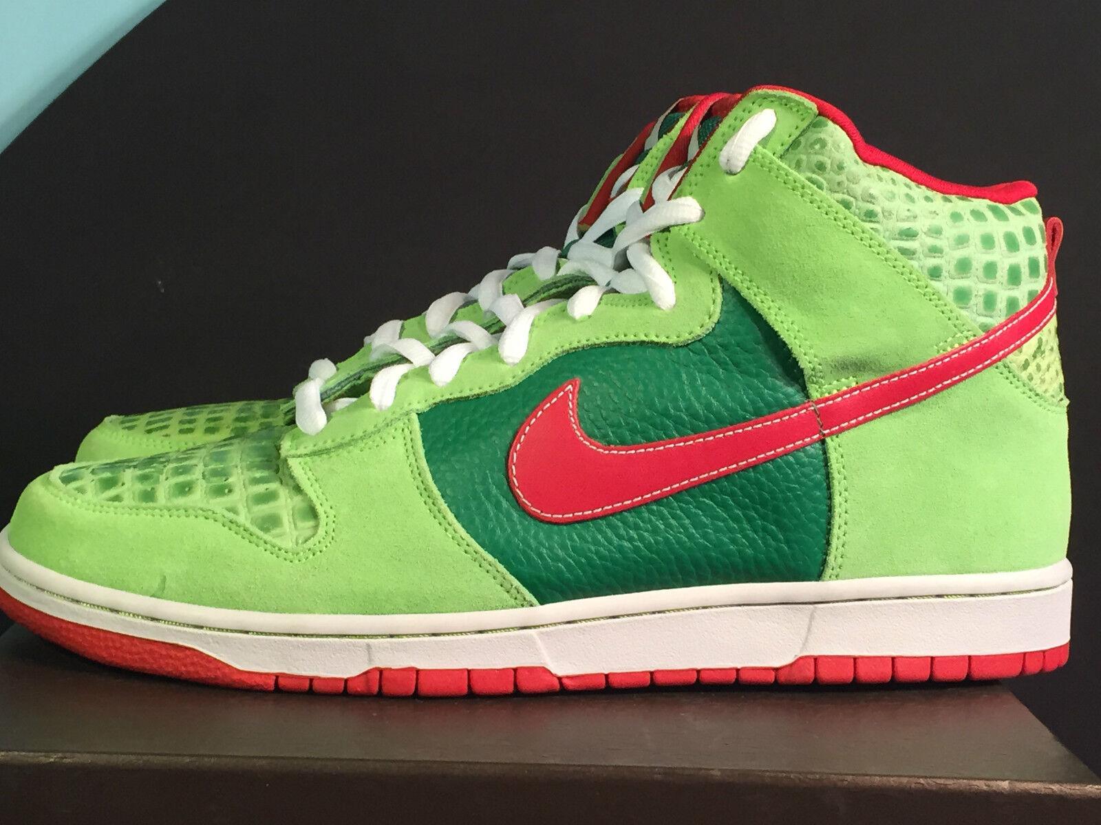Nike schiacciare pivot pro sb feelgood dei motley crue, verde, rosso 305050-362!sz 12