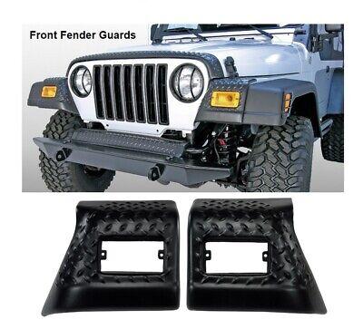Jeep TJ Wrangler Black Powdercoat Diamond Plate Entry Guards Fits 1997-2006 TJ