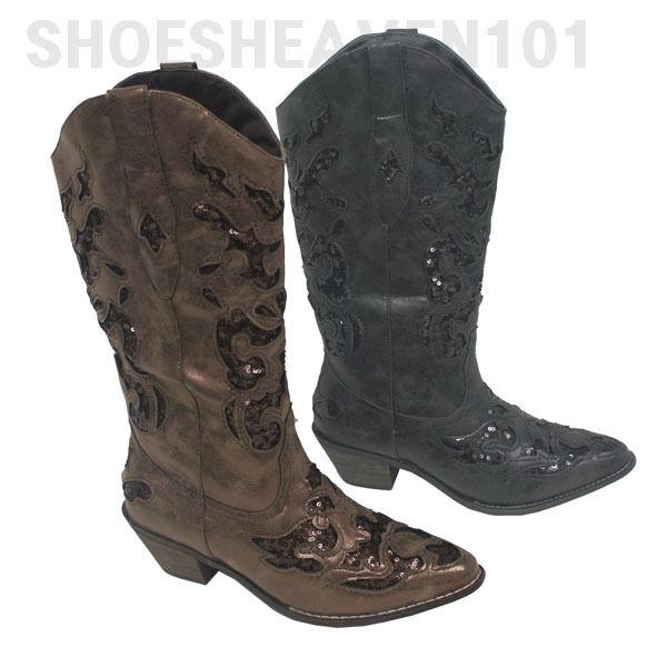 Women Cowboy Western Fashion boots PIZAZZ