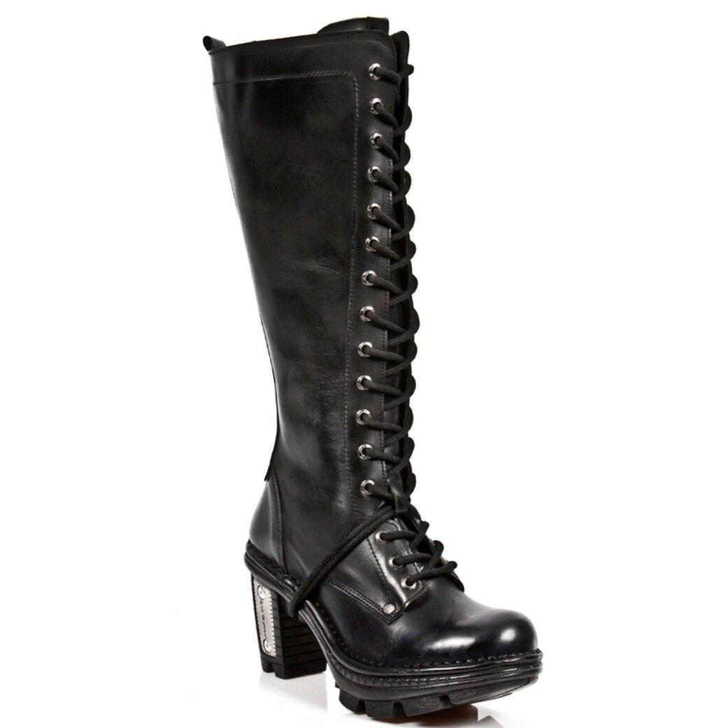 NEWROCK NR M. NEOTR013 S1 botas negras - botas nuevas de rock - mujer