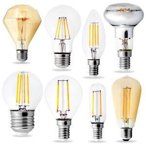 set 10x led filament lampen e14 e27 leuchte strahler gl hbirne einige dimmbar ebay. Black Bedroom Furniture Sets. Home Design Ideas
