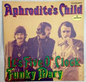 Aphrodite-039-s-Child-7-034-Mint-1970-It-039-s-Five-O-039-clock-Funky-Mary-mercury-132508MCF