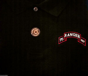 8d80da8e6 Image is loading US-75th-RANGER-RGT-Regiment-EMBROIDERED-POLO-SHIRT-