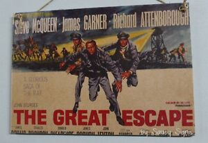 The-Great-Escape-Vintage-Retro-Movie-Poster-Wooden-Steve-McQueen-Garner-Sign