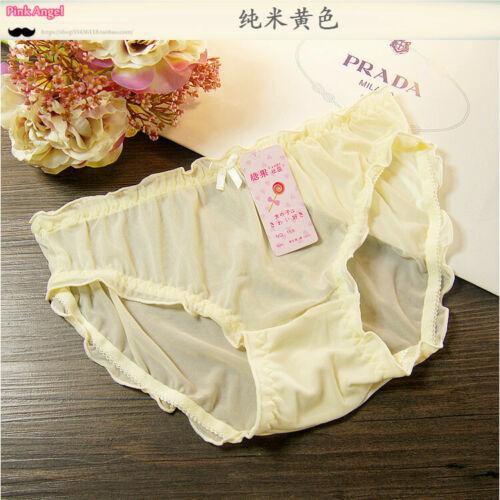 Lady Sheer Briefs Panties Underpants Underwear Knicker See Through Florals