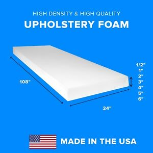 Details about High Density Upholstery Foam Seat Couch Cushion Replacement -  24\