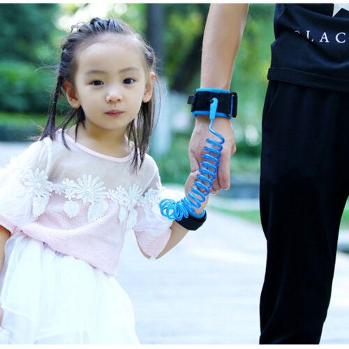 2PCS Infant Kids Anti Lost Traction Rope Leash Safe Harness Wristband Belt BU+OG
