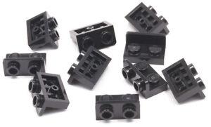 LEGO-10-x-Winkel-Konverter-invers-schwarz-1x2-auf-1x2-99780-NEUWARE