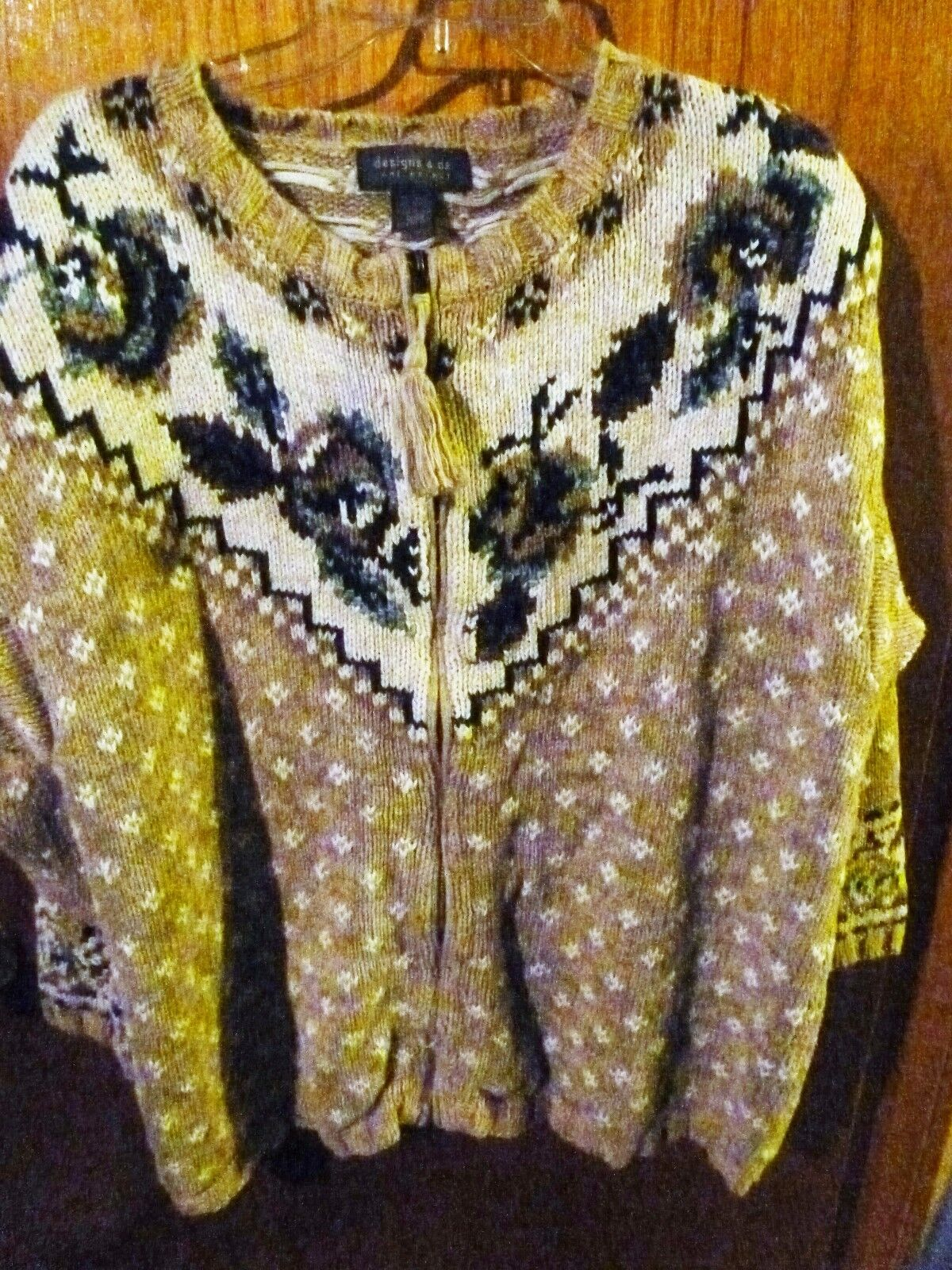 Woman's Designs & Co Lane Bryant Zipper Cardigan Earth Tones Sweater Size 18 20