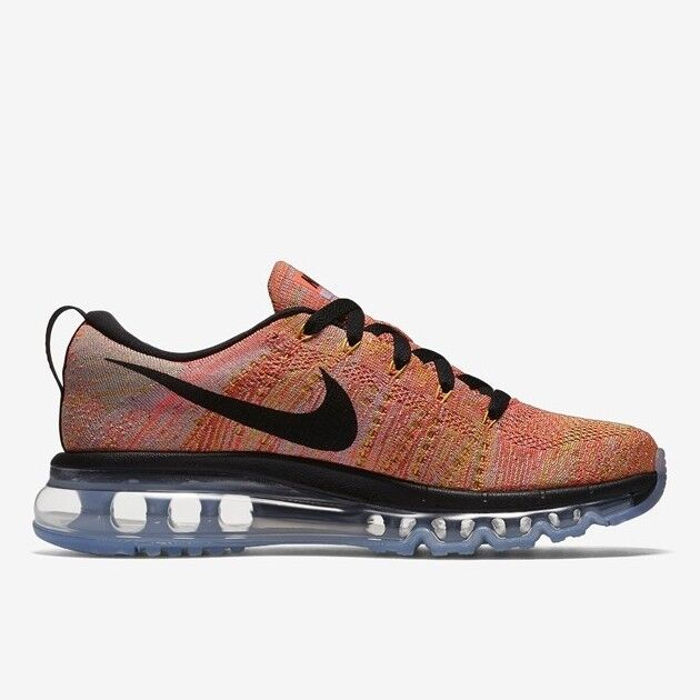 Wmns Nike Flyknit Air Max UK 4.5 EUR 38 Aluminum/Hot Punch/Electronic 620659 406 826218176630