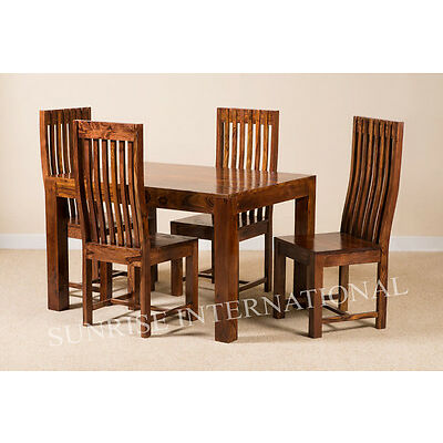 Mandira Wooden Dining table with 4 chairs furniture set !
