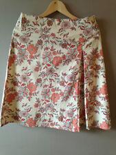 Beautiful Nougat Cotton Floral Skirt Size 2 Uk 10/12