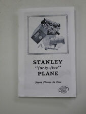Instruction Booklet for Stanley 45 Plane Dated 7-1-30 (Reproduction) not a copy