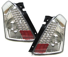 Clear Chrome glass rear LED tail lights rear lights for Suzuki Swift III 05-10