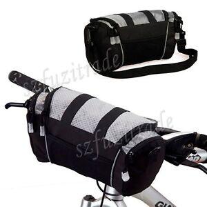 Sport-Cycling-Bike-Bicycle-Handlebar-Front-Tube-Pannier-Basket-Bag-Rack-Bag-Grey