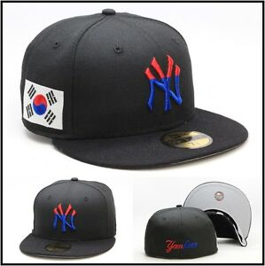 bbbcacaa32f56 New Era New York Yankees Fitted Hat Cap South Korea Korean Flag Hyun ...
