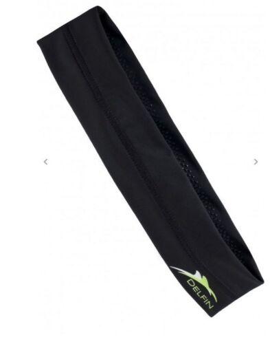 Great for the Gym! Delfin Spa Logo Headband Black w//Green logo