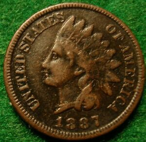1887-Full-LIBERTY-Indian-Head-Nice-grade-Great-details