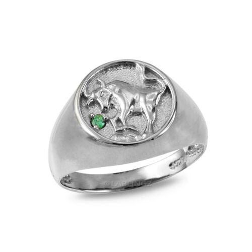 Sterling Silver Taurus Zodiac CZ Ring