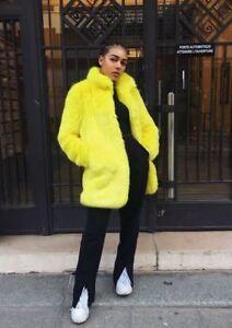 Veste fausse fourrure jaune Zara