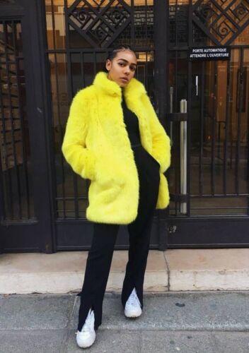 Fausse Fourrure M En 253 4369 Zara Jaune Taille Manteau 2018 Neuf S