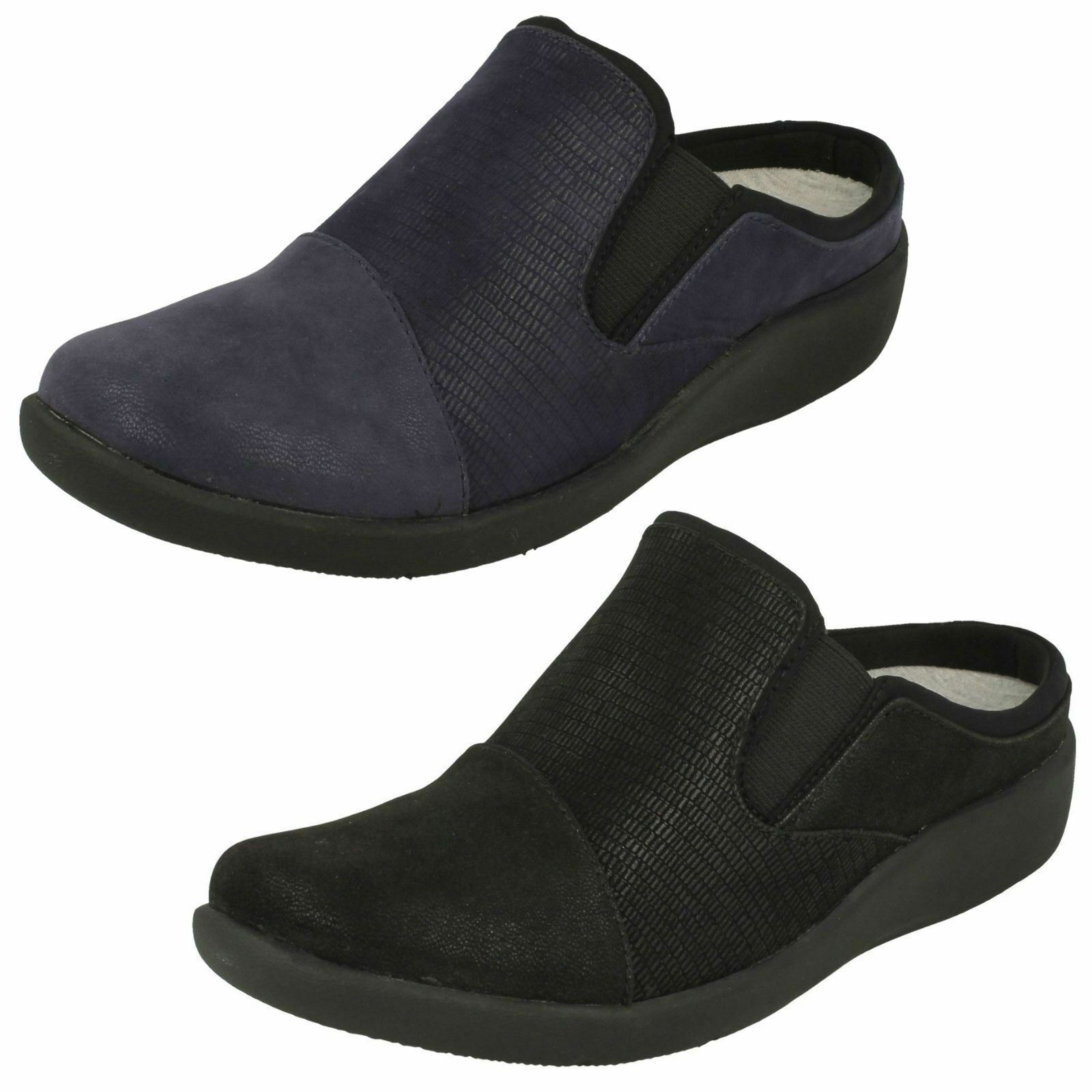 Ladies Clarks Cloud Steppers Sillian Free Casual Slip On Mules D Fitting