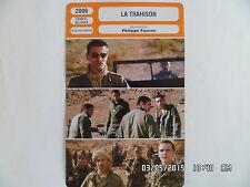 CARTE FICHE CINEMA 2006 LA TRAHISON Vincent Martinez Ahmed Berrhama Cyril Troley