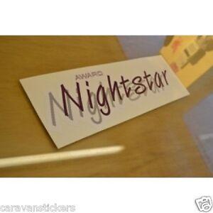 ABI Award Nighstar Caravan Stickers Decals Graphics PAIR EBay - Graphics for caravanscaravan stickers ebay
