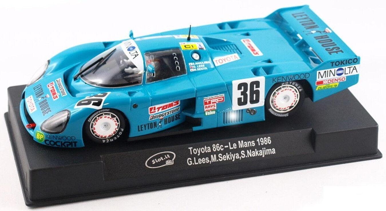 Slot It  Leyton House  Toyota 86c - 1986 Le Mans 1 32 Scale slot Car CA41A
