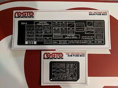 [DHAV_9290]  Under Hood Fuse Box DECAL Kit for 00-01 Honda S2000 2 Door Convertible AP1  Label   eBay   Standard S2000 Fuse Box      eBay