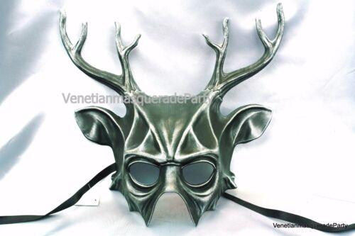 Deer Antler half face Mask Animal elk Spirit Halloween costume Christmas party