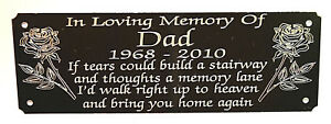 PERSONALISED-MEMORIAL-BENCH-PLAQUE-GRAVE-MARKER-SIGN-WITH-ANY-WORDING-6-034-X-2-034