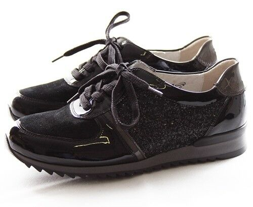 Waldläufer Hurly Sneaker Damen Schuhe Leder Schwarz 370008-400-564