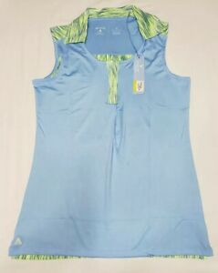 NEW-Antigua-Women-039-s-Sleeveless-Electra-Desert-Dry-Golf-Polo-Blue-Yellow-Size-S
