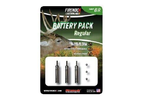 USA Ships Free Firenock Regular BR Battery Pack 3 Pack w// O-rings