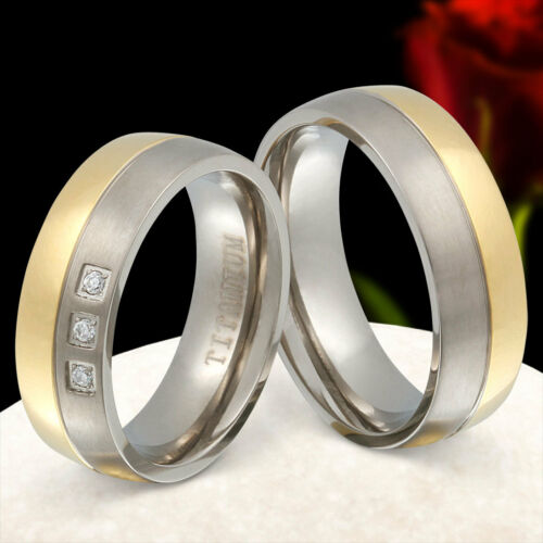 2 Hochzeitsringe Trauringe aus Titan  Eheringe Mit Kostenloser Gravur NrT16HD