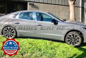 fit-2019-2021-Hyundai-Sonata-6Pc-Pillar-Post-Stainless-Steel-Trim-Door-Cover