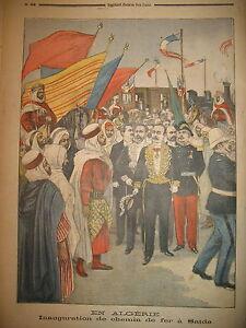 ALGERIE-COLONIALE-TRAIN-INAUGURATION-CHEMIN-DE-FER-A-SAIDA-LE-PETIT-JOURNAL-1900