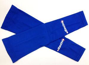 SANTINI-Thermofleece-ARM-WARMERS-Royal-Blue-ROAD